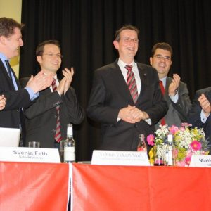 Das Podium gratuliert Martin Rabanus zum Spitzenergebnis.