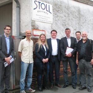 v.l.n.r.: Carsten Sinß, Christian Stoll, Tanja Pfenning, Marius Weiß, Martin Rabanus, Max Faust, Heinz Juhnke