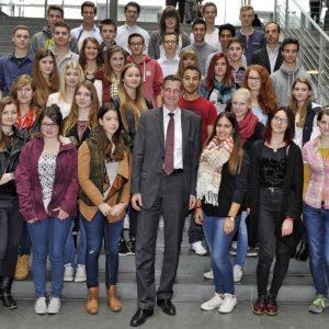 Schülerinnen udn Schüler aus Taunusstein in Berlin