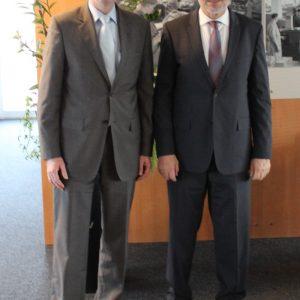 v.l.n.r.: Martin Rabanus, MdB und Roderich Egeler, Präsident des Statistischen Bundesamts