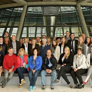 Besuchergruppe im Bundestag